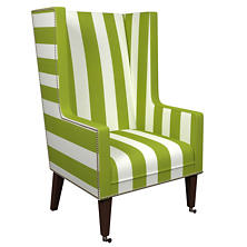 Alex Green Neo-Wing Chair