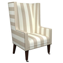 Alex Pearl Grey Neo-Wing Chair