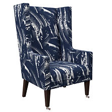 Brushstroke Indigo Neo-Wing Chair