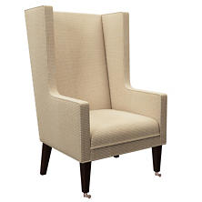 Checkered Cream/Natural Neo-Wing Chair