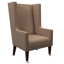 Checkered Navy/Natural Neo-Wing Chair