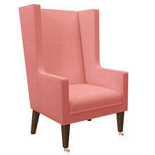 Estate Linen Coral Neo-Wing Chair