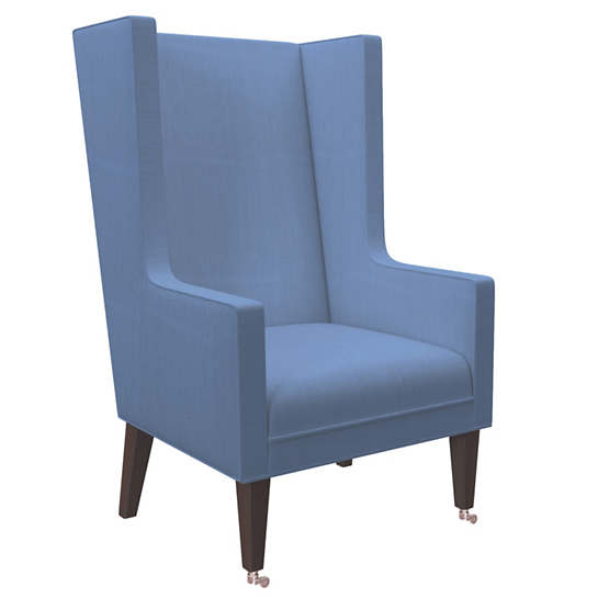 Estate Linen French Blue Neo Wing Chair