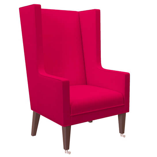 Estate Linen Fuchsia Neo-Wing Chair