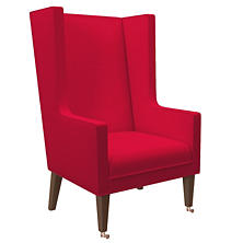 Estate Linen Red Neo-Wing Chair