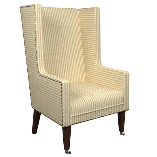 Adams Ticking Natural Neo-Wing Chair