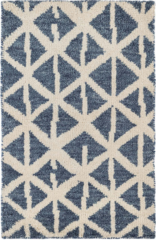 Newport Blue Hand Knotted Wool Rug