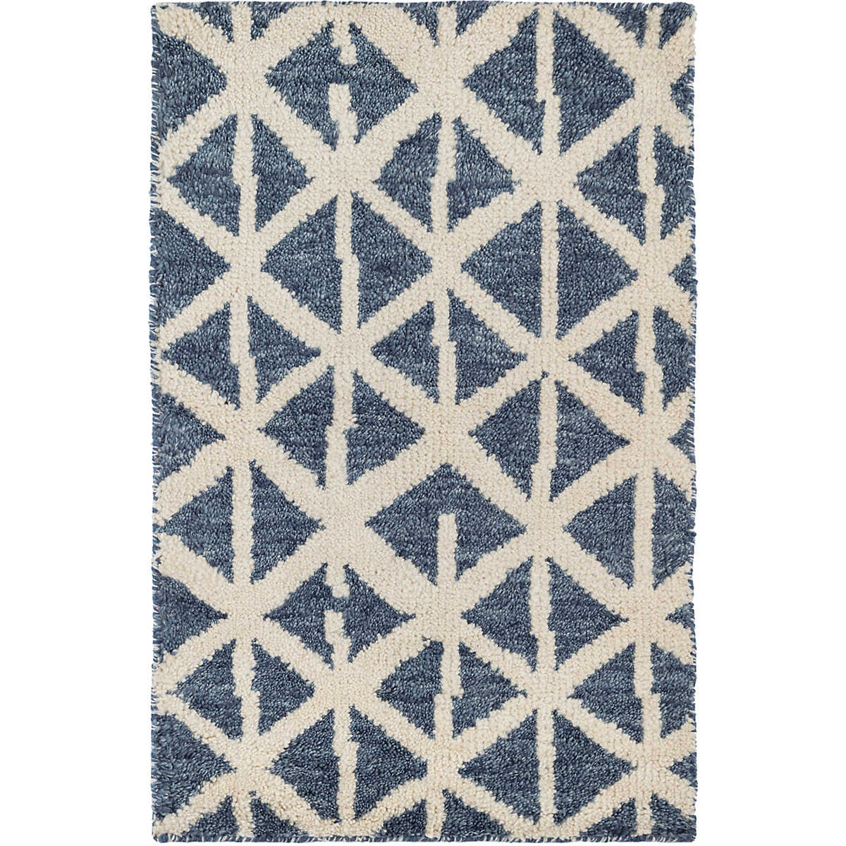 Newport Blue Hand Knotted Wool Rug Dash Albert