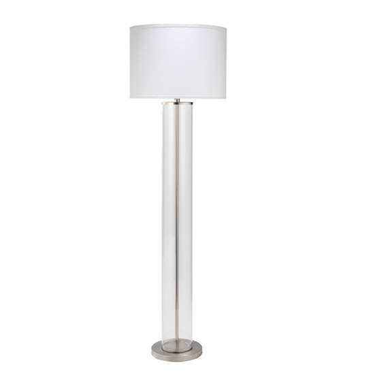 Nickel Rockefeller Floor Lamp