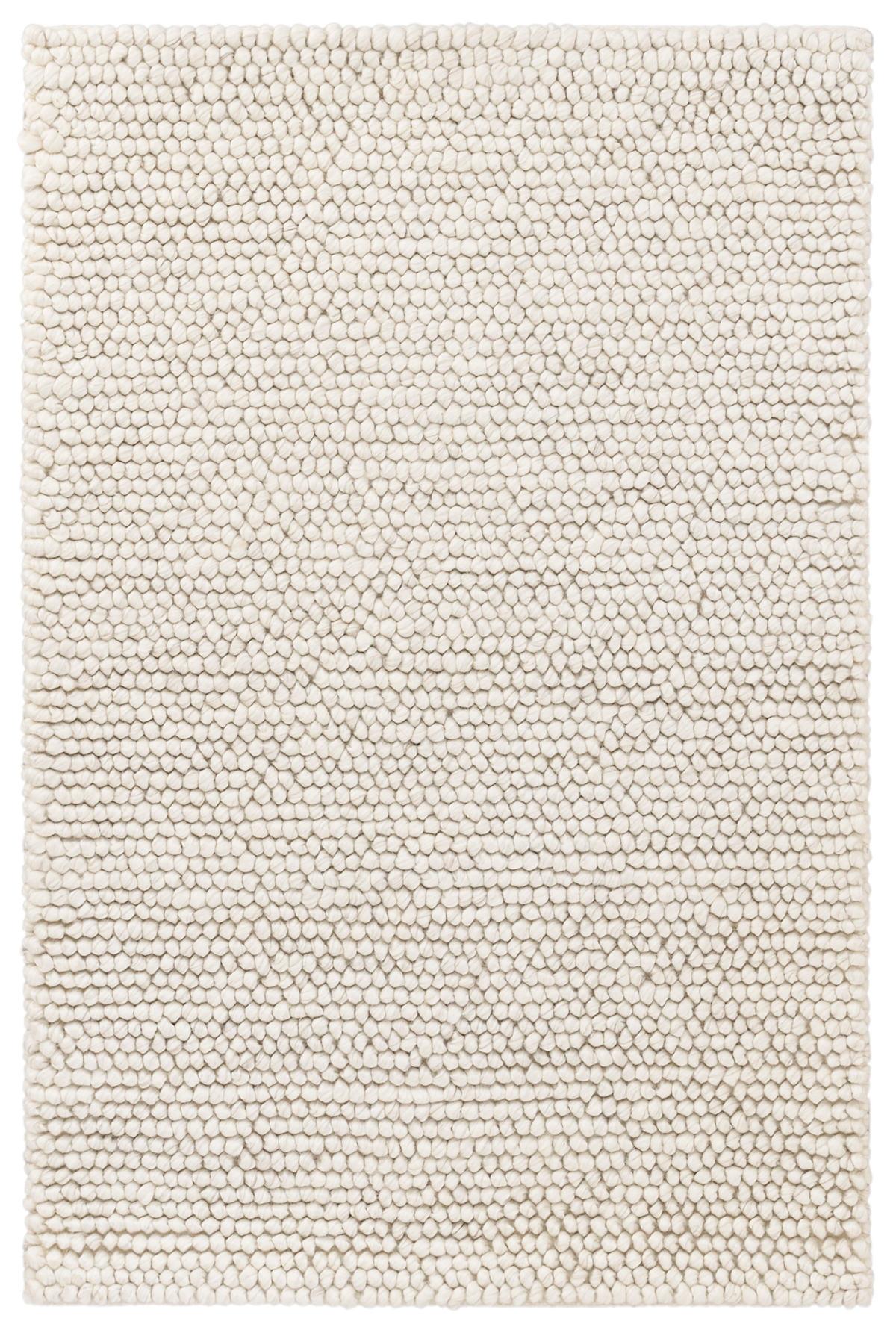 Niels Ivory Woven Wool/Viscose Rug