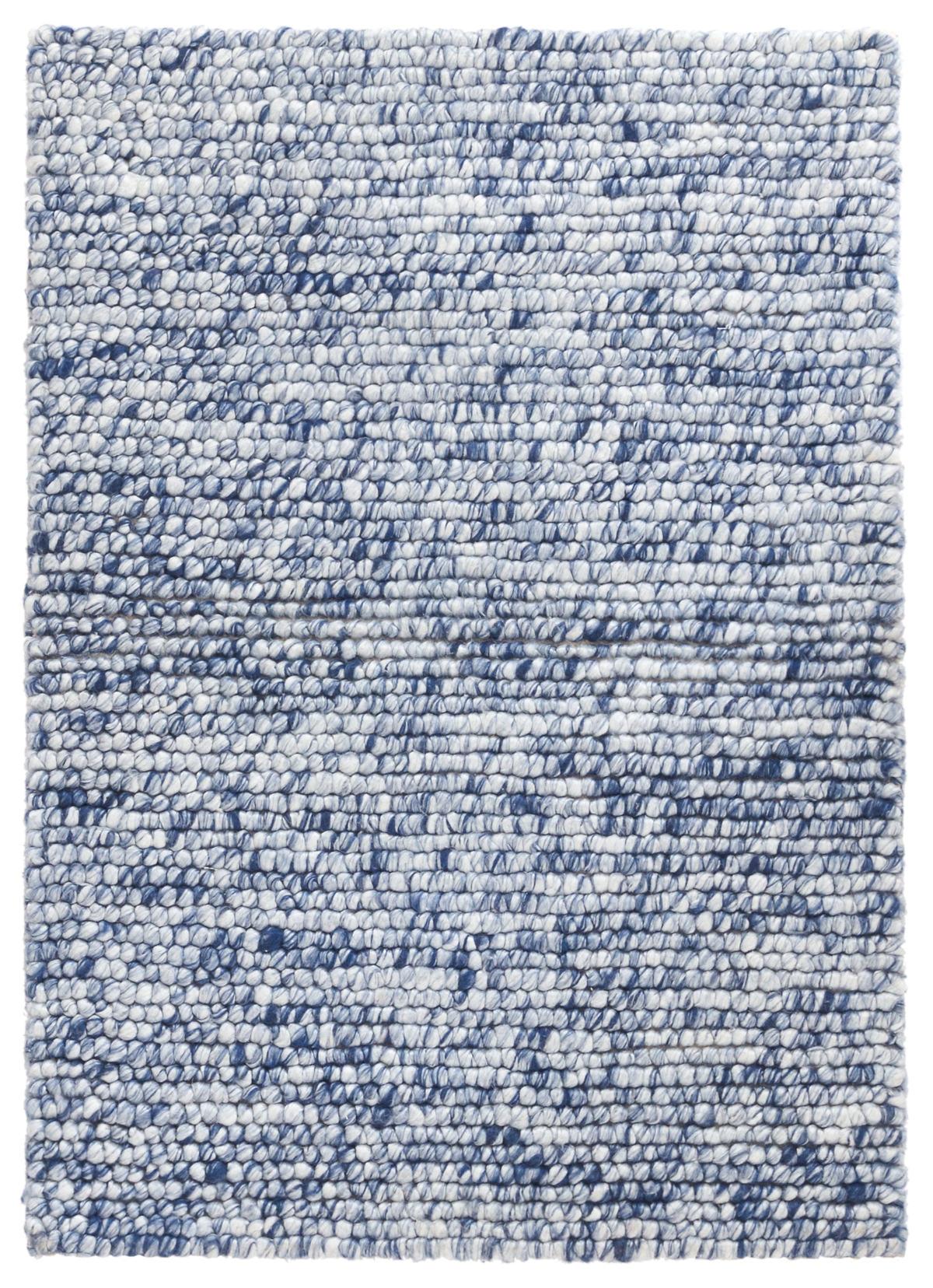 Niels Navy Woven Wool/Viscose Rug
