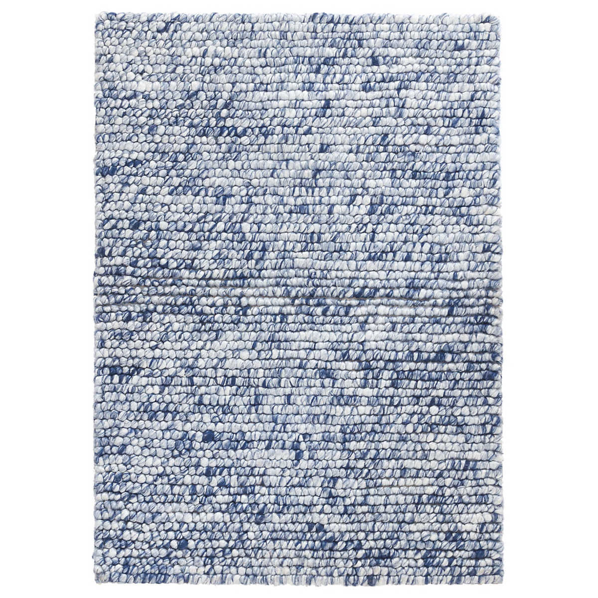 Niels Navy Woven Wool/Viscose Rug | Dash & Albert