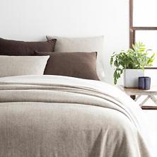 Noah Linen Grey Bedspread