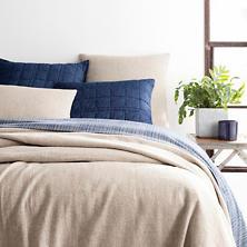 Noah Linen Natural Bedspread