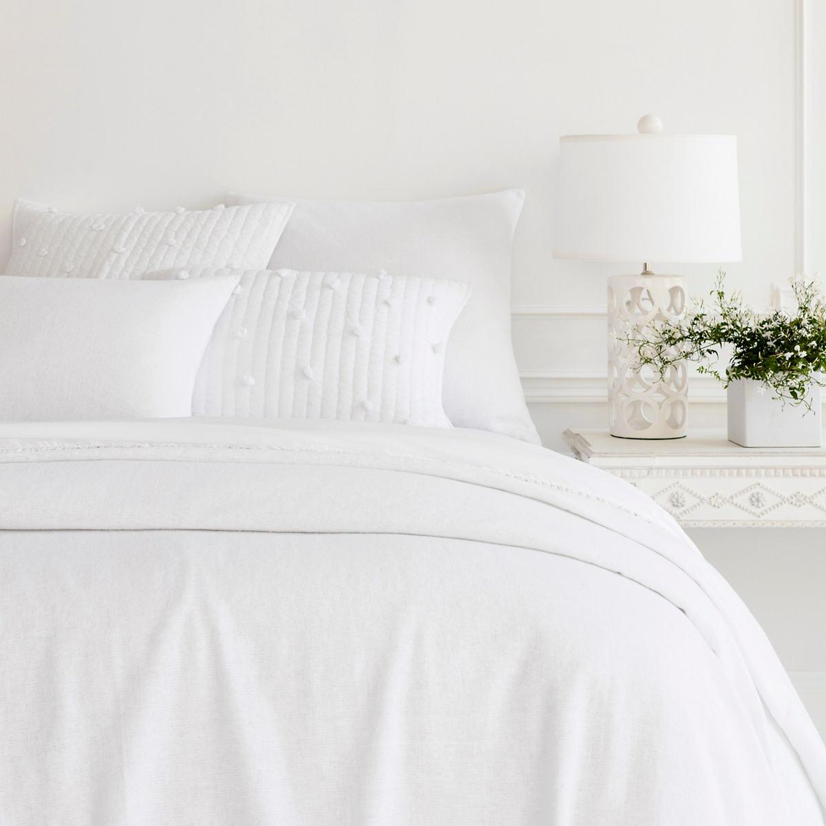 Noah Linen White Bedspread