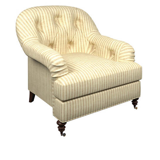 Adams Ticking Natural Norfolk Chair