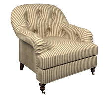 Adams Ticking Brown Norfolk Chair