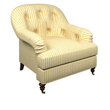Adams Ticking Gold Norfolk Chair