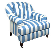 Alex French Blue Norfolk Chair
