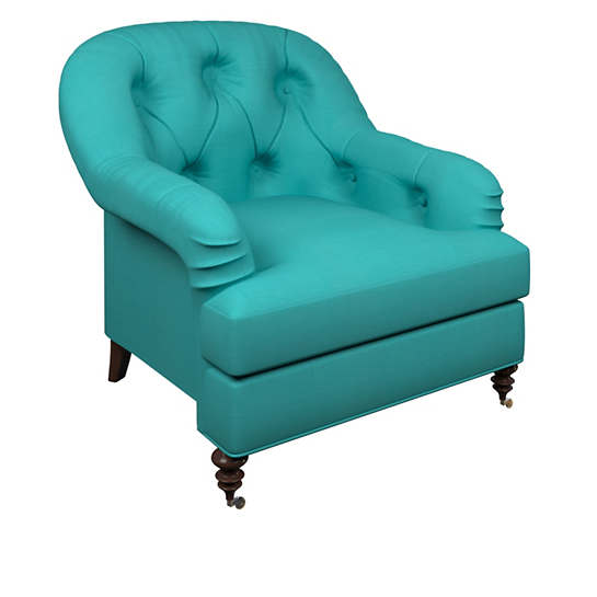 Estate Linen Turquoise Norfolk Chair