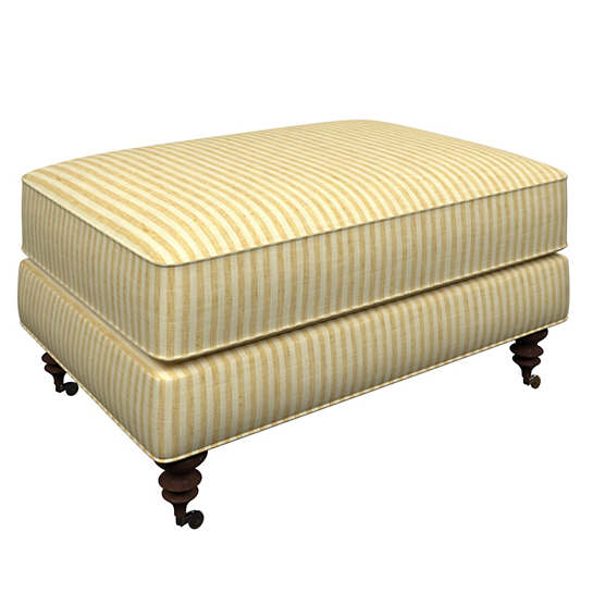 Adams Ticking Gold Norfolk Ottoman