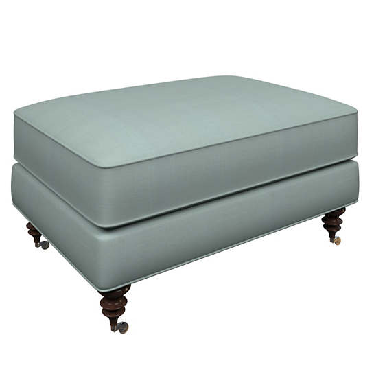 Estate Linen Sky Norfolk Ottoman