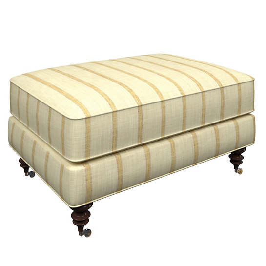 Glendale Stripe Gold/Natural Norfolk Ottoman