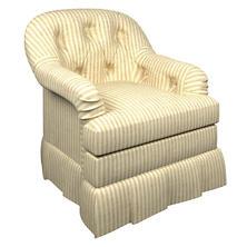 Adams Ticking Natural Norfolk Skirted Chair