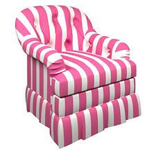 Alex Fuchsia Norfolk Skirted Chair