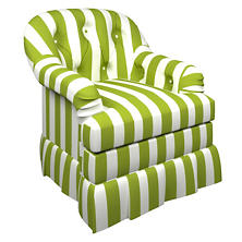 Alex Green Norfolk Skirted Chair