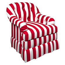 Alex Red Norfolk Skirted Chair