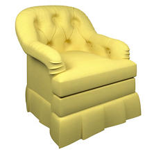 Estate Linen Citrus Norfolk Skirted Chair