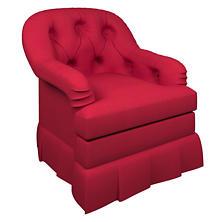Estate Linen Red Norfolk Skirted Chair