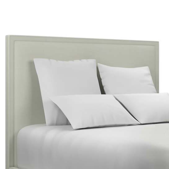 Nubby Mist Colebrook Whitewash Headboard