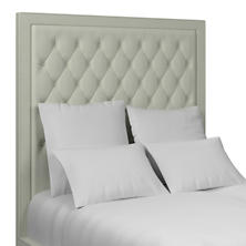 Nubby Mist Stonington Tufted Headboard