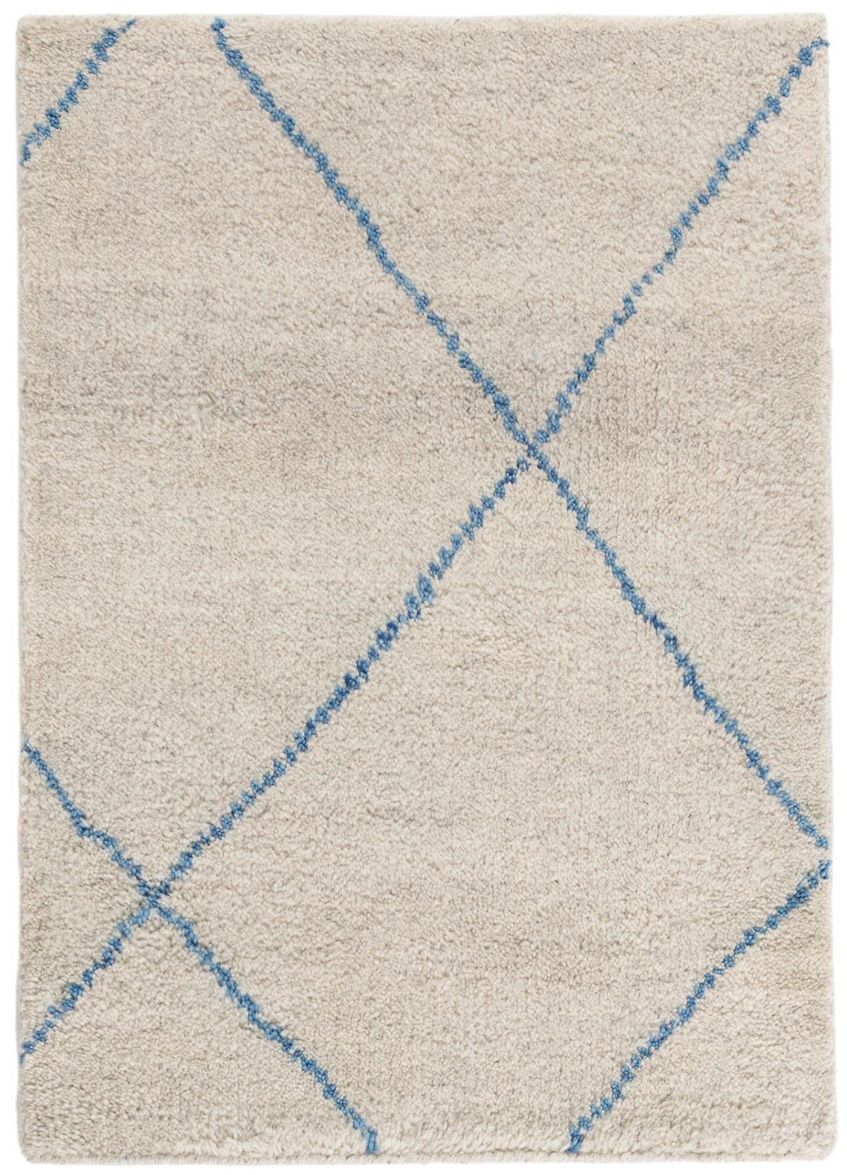 Numa Blue Hand Knotted Wool Rug