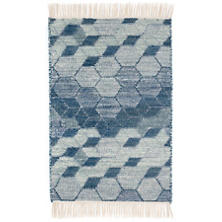 Odyssey Blue Woven Wool Rug