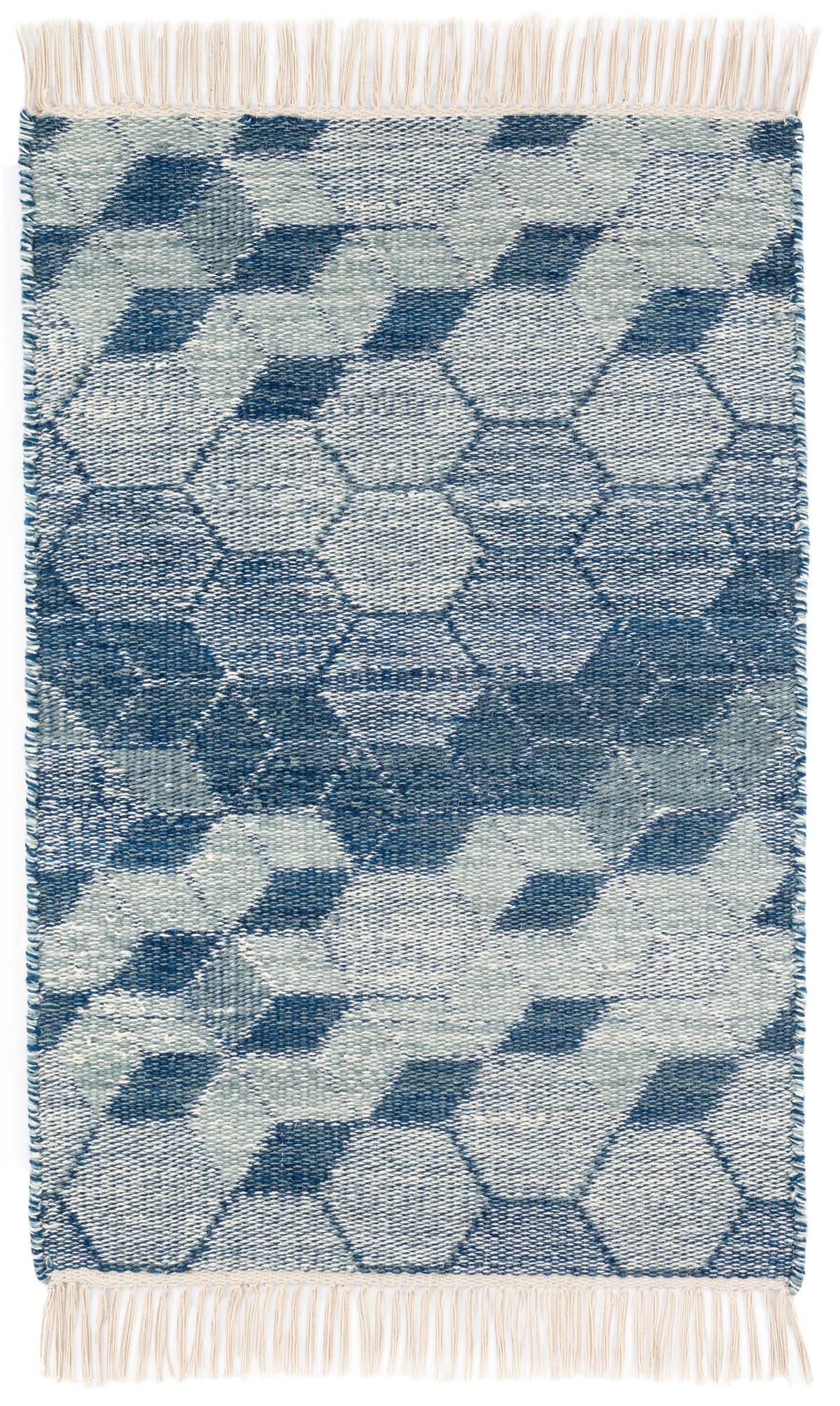 Odyssey Blue Woven Wool Rug