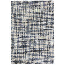 Olio Blue Hooked Wool Rug