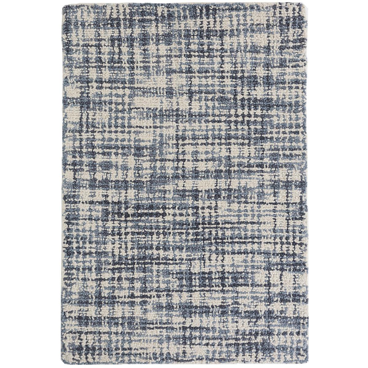 Olio Blue Hooked Wool Rug Dash Amp Albert