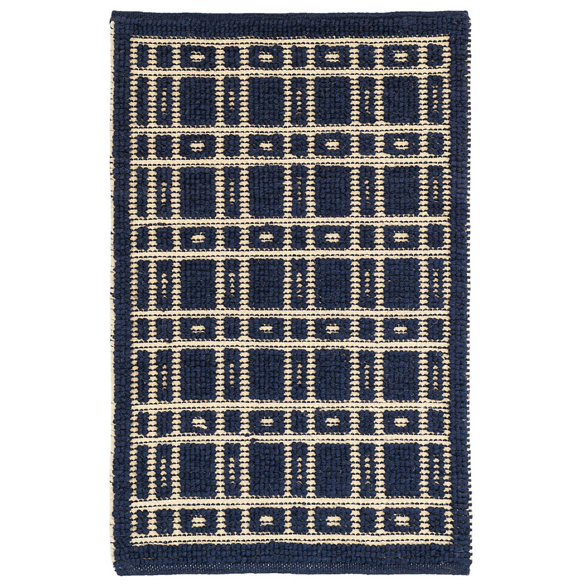 Oliver Navy Woven Wool Rug Dash Amp Albert