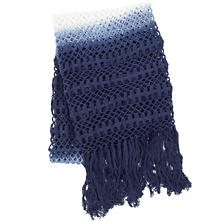 Ombre Crochet Indigo Throw
