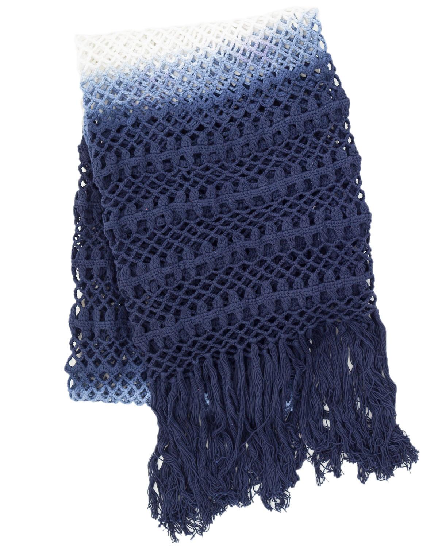 Ombre Crochet Indigo Throw