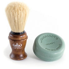 Omega Shave Brush And Lightfoot's Shave Soap Set
