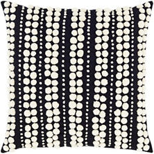 Omni Embroidered Black/Ivory Decorative Pillow
