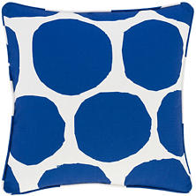 On The Spot Cobalt Indoor/Outdoor Decorative Pillow