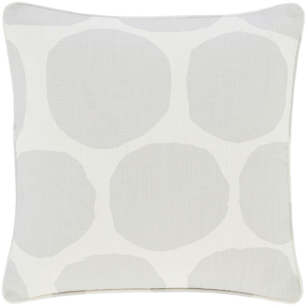 On The Spot Grey Indoor/Outdoor Decorative Pillow