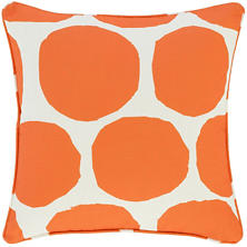 On The Spot Orange Indoor/Outdoor Decorative Pillow