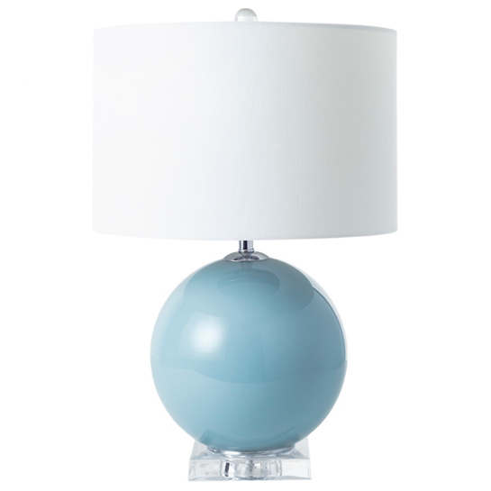 On The Ball Powder Blue Table Lamp