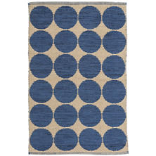 Orbit Blue Wool Woven Rug